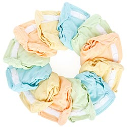Washed cloth diapers