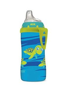 NUK-Blue-Turtle-Silicone-Spout-Active-Cup,-10-Ounce