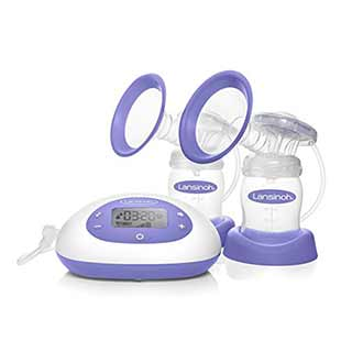 lansinoh double electric breast pump for busy mothers