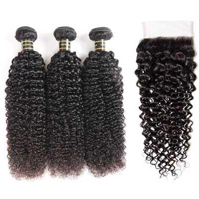 Aodai Hair Brazillian Virgin Curly Hair Weave 3 Bundles
