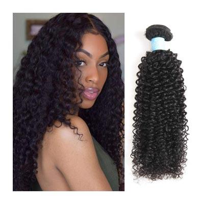 BLY 7A Mongolian Virgin Kinky Curly Human Hair Weave 3 Bundles
