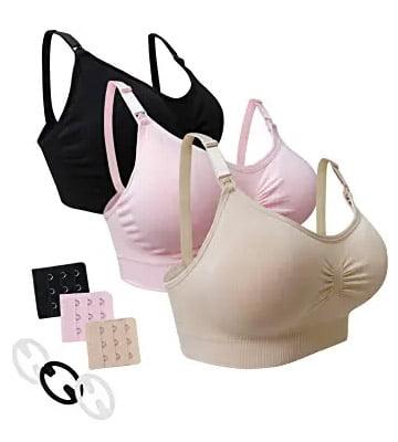 Desirelove Nursing Bra 3 Pack Maternity Seamless Bras