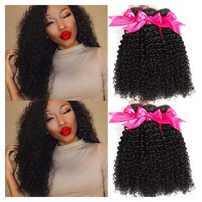 Hermosa 10A Brazillian Curly Hair 3 Bundles