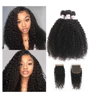 HPH 8A Brazilian Kinky Curly Virgin Hair 3 Bundle