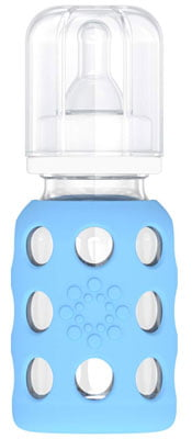 Lifefactory 4-Ounce BPA-Free Glass Baby Bottle with Protective Silicone Sleeve and Stage 1 Nipple: Best Glass Bottle