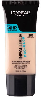 LOreal Paris Makeup Infallible Up to 24HR Pro-Glow Foundation Creamy Natural