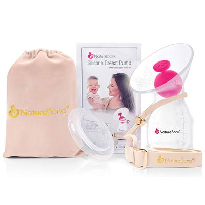 NatureBond Silicone Breastfeeding Manual Breast Pump
