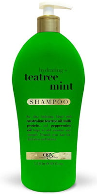 OGX Hydrating + Tea Tree Mint Shampoo, 40 FL OZ