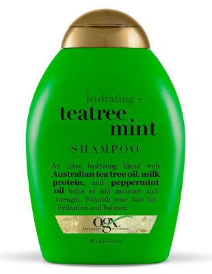 OGX TeaTree Mint Shampoo 13 oz Bottle: Best For Damaged Oily Hair