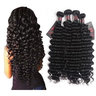 Recasa Virgin Brazilian Hair Deep Wave 4Bundles