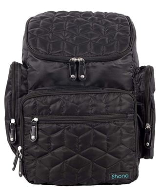 Shona Quilted 5 Piece Diaper Bag Backpack Set