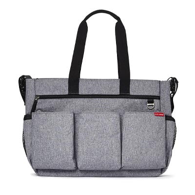 Skip Hop Duo Double Signature Changing Bag - Heather Grey