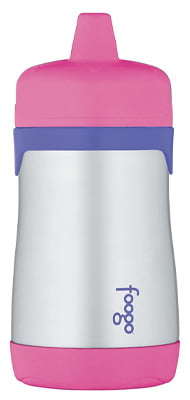 THERMOS FOOGO Vacuum Insulated Stainless Steel 10-Ounce Hard Spout Cup: For babies from 12 months age