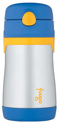 THERMOS FOOGO Vacuum Insulated Stainless Steel 10-Ounce Straw Bottle: For toddler from 18th Months age
