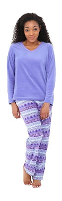 Alexander Del Rossa Women's Fleece Pajamas