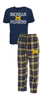 Concepts Sport Men's NCAA Duo Flannel Pajamas