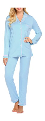 Ekouaer Pajamas Women's Long Sleeve Sleepwear
