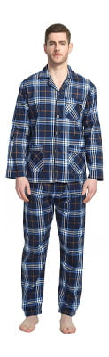 Global Men's Flannel Pajamas