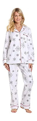 Noble Mount Women's Premium 100% Cotton Flannel Pajama