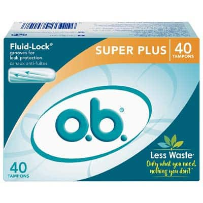 o.b. Applicator Free Digital Tampons