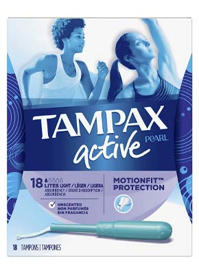 Tampax Pearl Active Tampons with Plastic Applicator