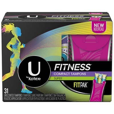 U by Kotex Super Absorbency Fitness Tampons with FITPAK