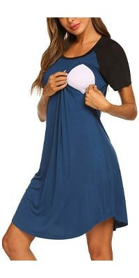 Ekouaer 3 in 1 Delivery/Labor/Nursing Nightgown