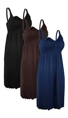 iloveSIA 3PCS Nursing Nightgown